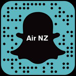 Air New Zealand Snapchat username