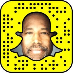 Ben Carson Snapchat username