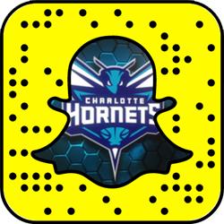 Charlotte Hornets snapchat
