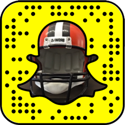 Cleveland Browns snapchat