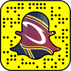 Cleveland Cavaliers snapchat