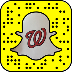 Washington Nationals snapchat